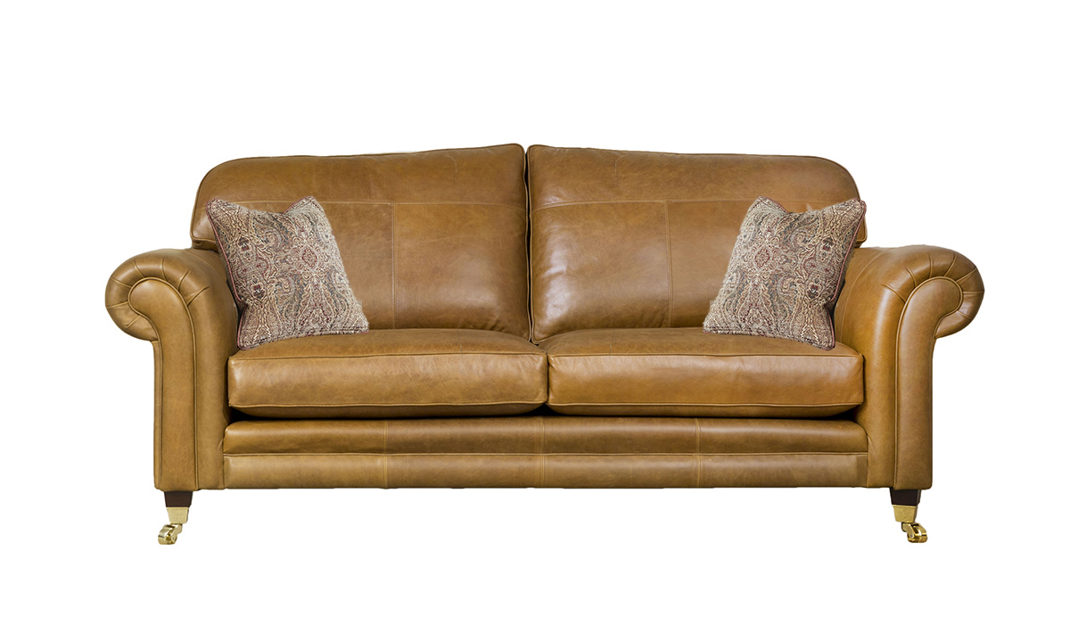 3 Seater  Louis Sofa Leather Mustang Tan