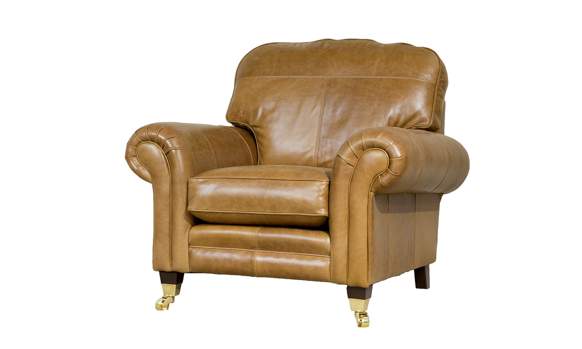 Louis Leather Chair in Mustang Tan