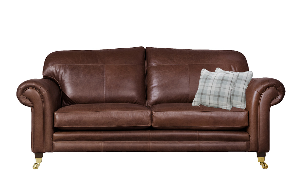 3 Seater  Louis Sofa Leather Mustang Chestnut
