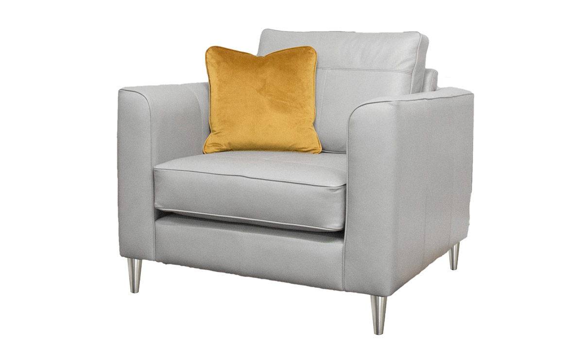 Leather Nolan Chair in Chelsea Dove Grey
