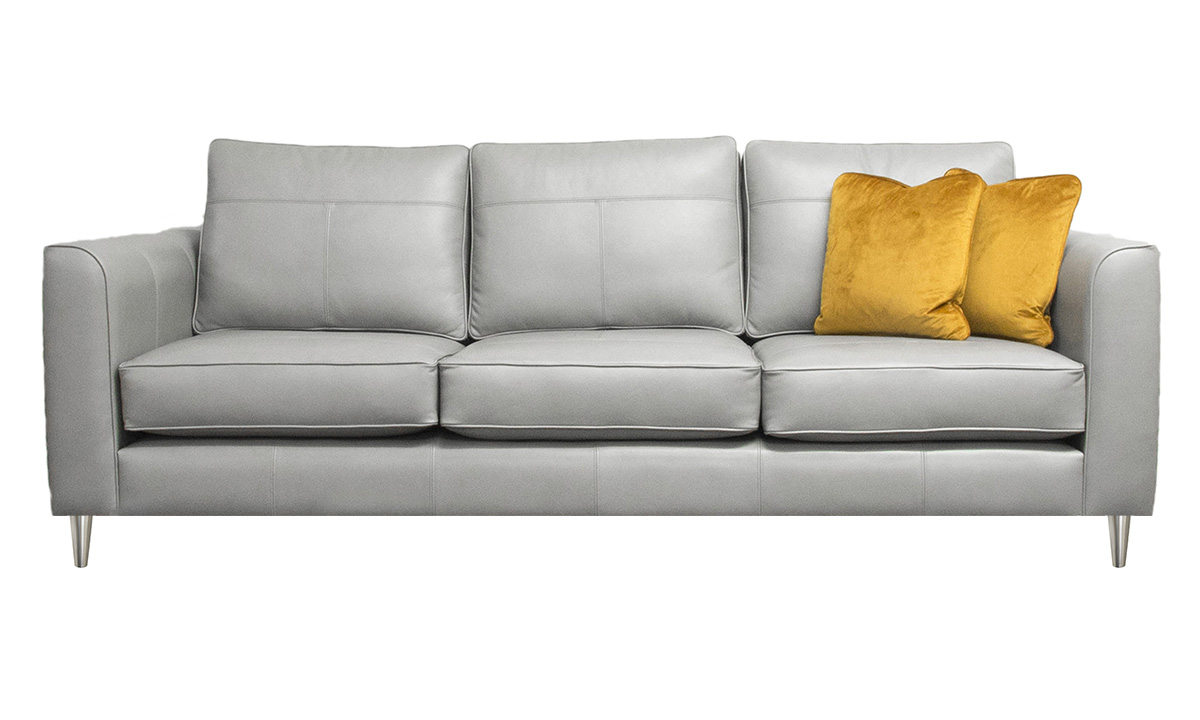Large Leather Nolan in Chelsea Dove Grey