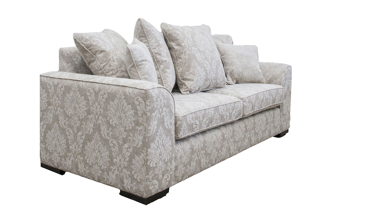 Leonardo Sofa in Dagano Pattern Chalk, Bronze Collection Fabric
