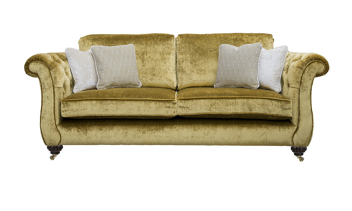 Letrec 3 Seater Sofa with Deep Button Arms in Discontinued Fabric