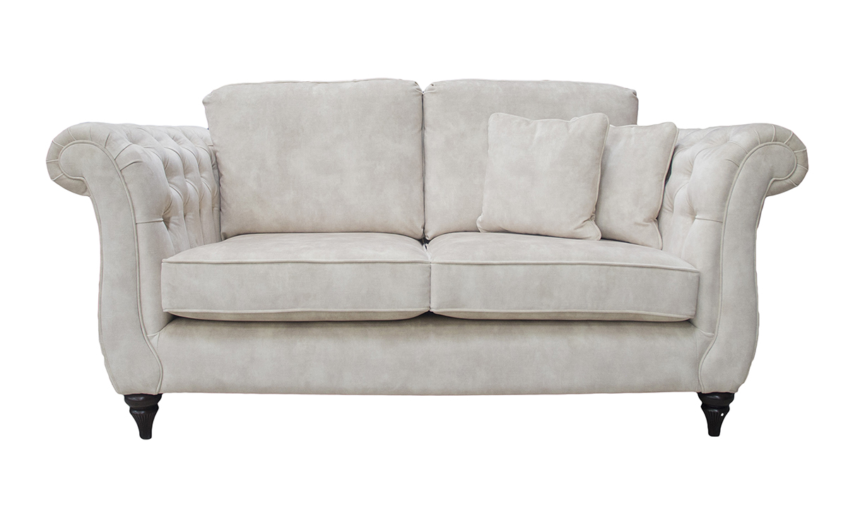 Letrec 2 Seater Sofa in Lovely Almond Gold Collection Fabric
