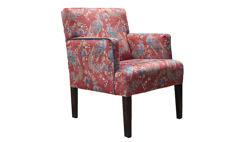 Lisa Chair in Peacock Cranberry, Platinium Collection Fabric - 405860