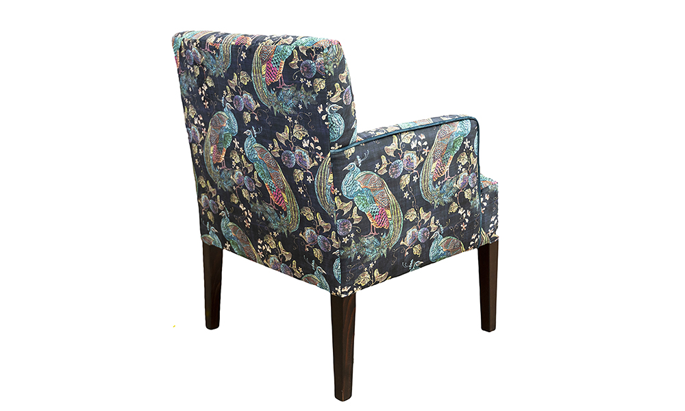Lisa Chair in Peacock Navy, Platinium Collection Fabric - 405860