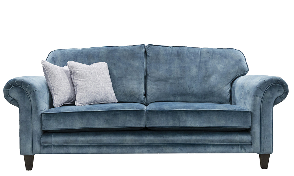 Louis 3 Seater in Lovely Ocean, Gold Collection - 516186