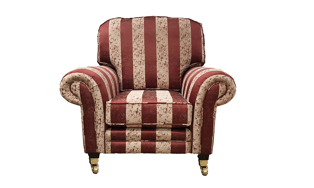 Louis Chair in Bury Stripe, Gold Collection Fabric