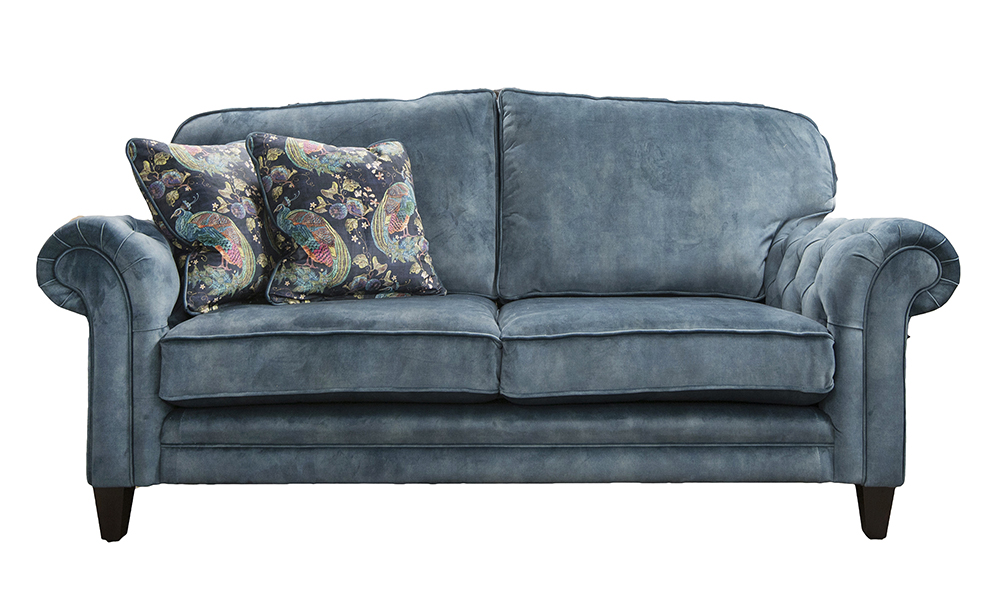 Louis 3 Seater Sofa in Lovely Ocean, Gold Collection Fabric