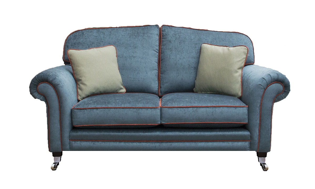 Louis 3 Seater Sofa in Edinburgh Petrol , Silver Collection Fabric