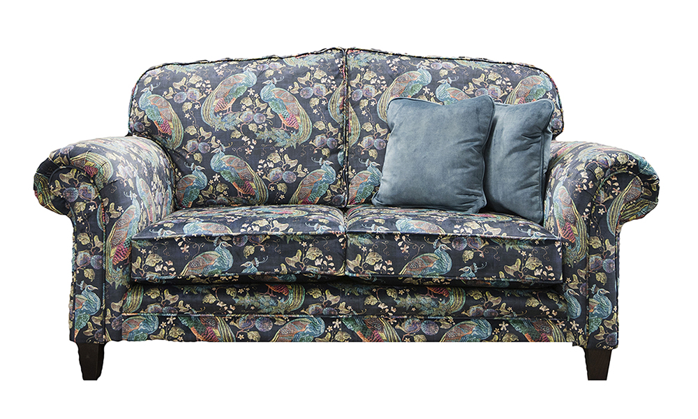 Louis 2 Seater Sofa in Peacock Navy, Platinum Collection