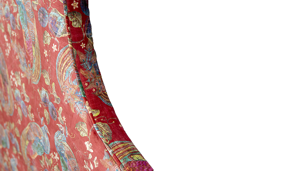 Maddox 6ft Headboard, Close Up, Peacock Cranberry - 405720