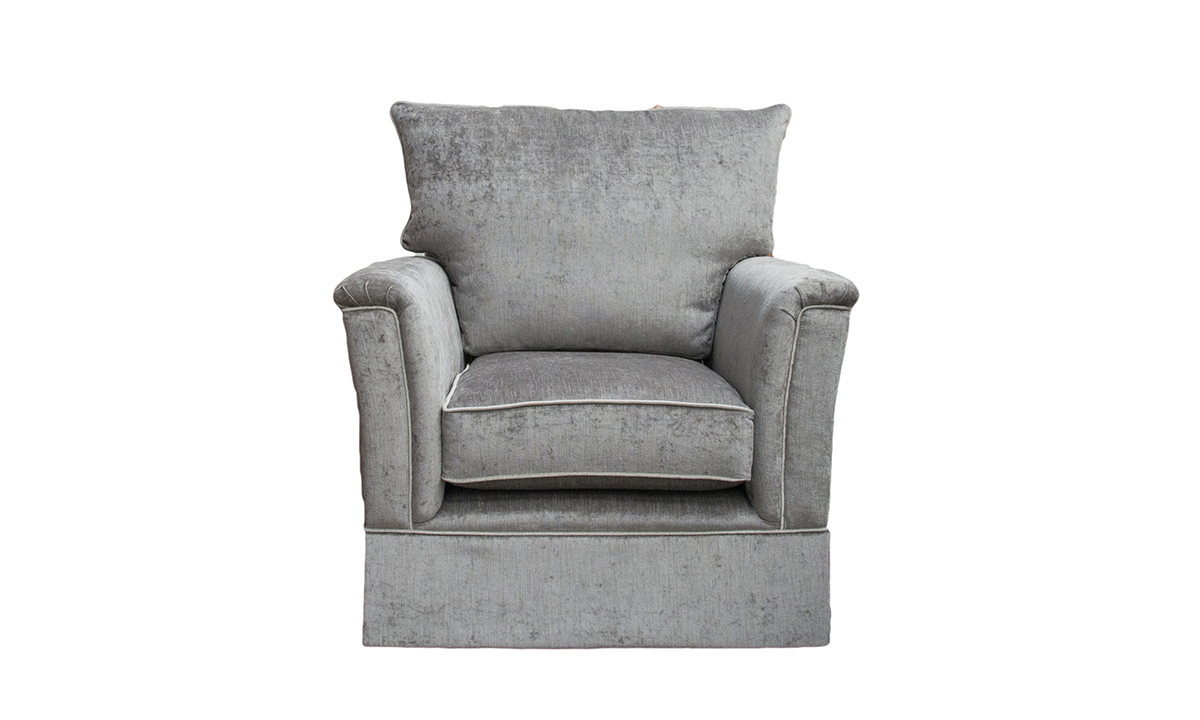 Madison Chair in Edinburgh Truffle, Silver Collection Fabric