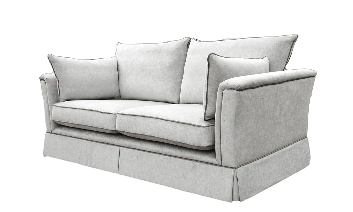 Madison 3 Seater Sofa in Edinburgh French Grey, Silver Collection Fabric