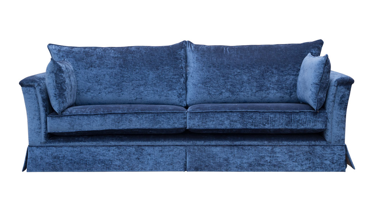 Bespoke Size Madison Sofa in Mancini Carbon, Gold Collection