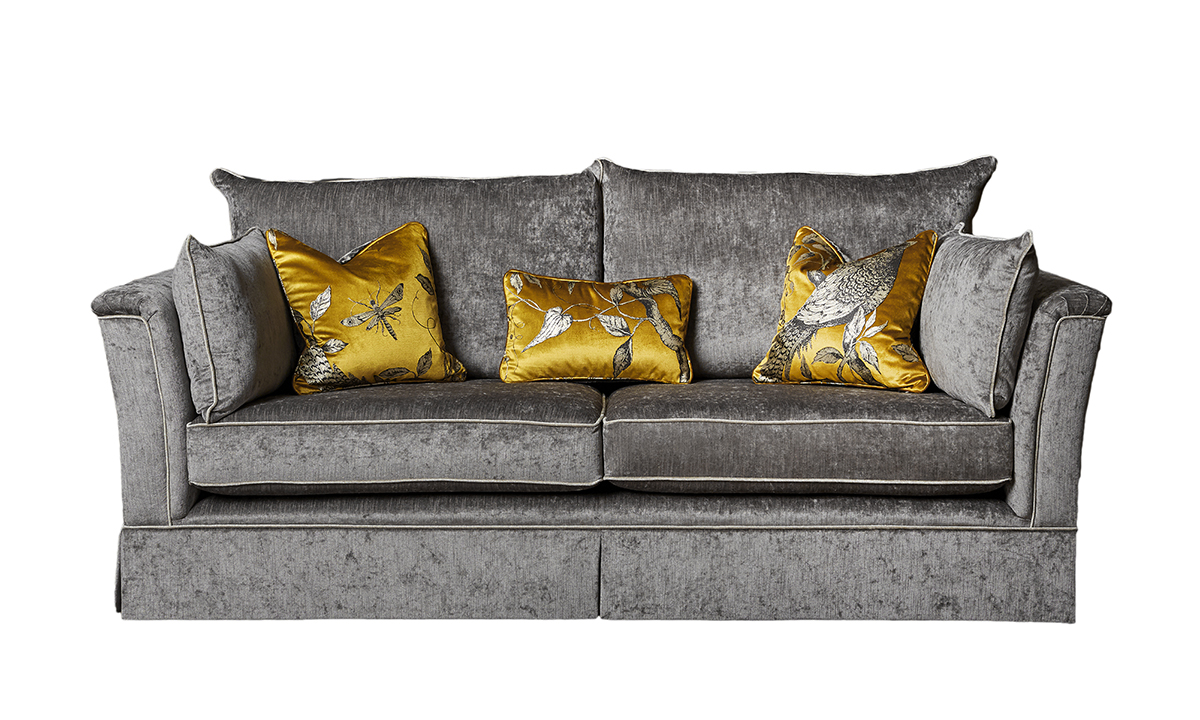 Madison 3 Seater Sofa in Edinburgh French Truffle, Silver Collection Fabric
