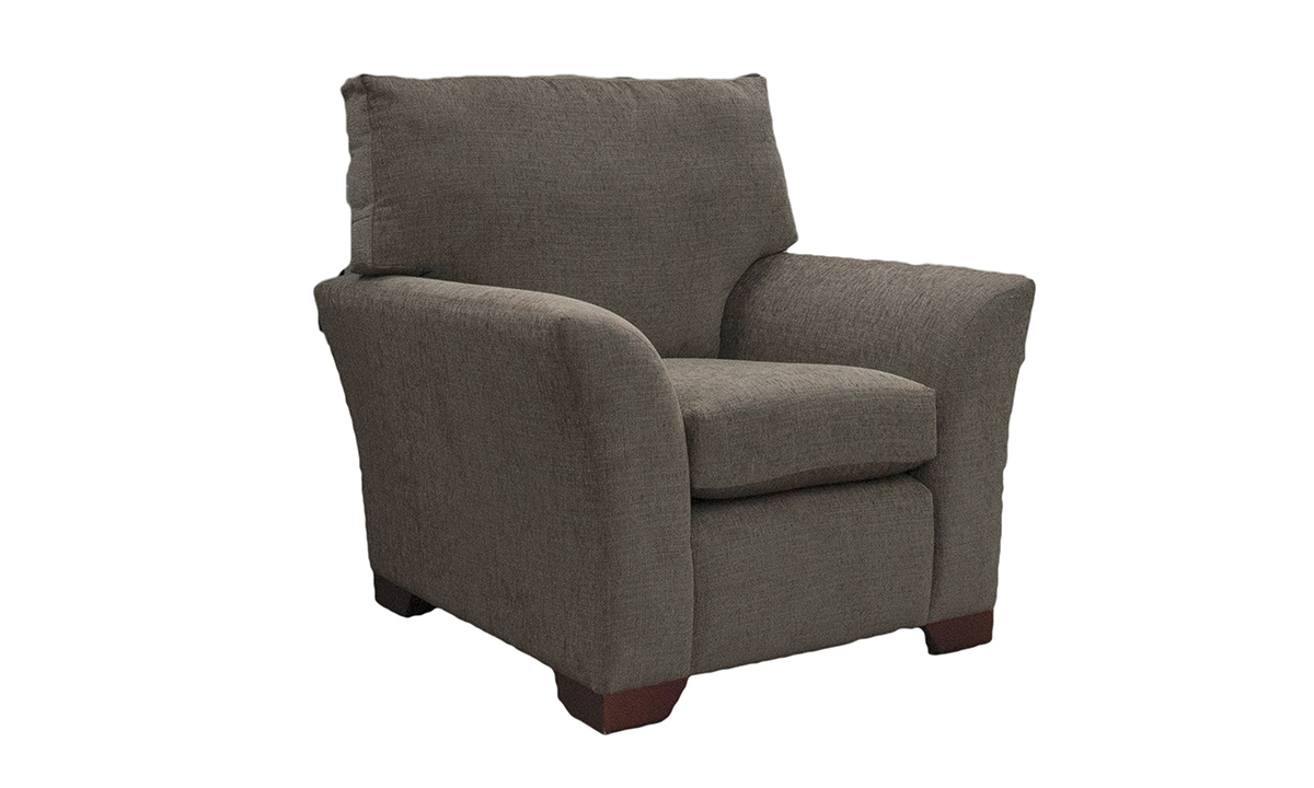 Malton Chair in Corrine Charcoal, Bronze Collection Fabric