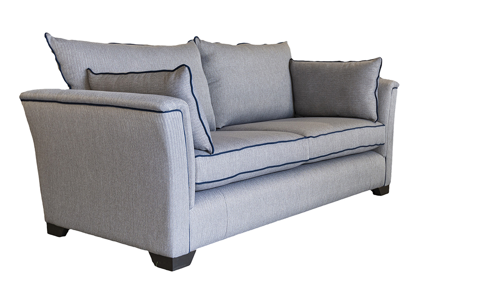 Monroe 3 Seater Sofa in Porto Charcoal ( Discontinued) - 519303