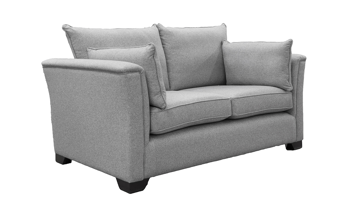 Monroe 2 Seater Sofa in Tweed Gallant, Silver Collection Fabric