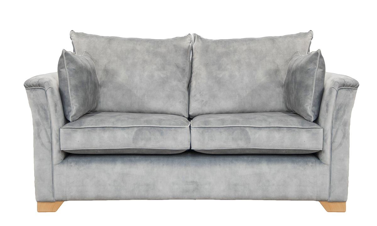 Monroe 2 Seater Sofa in Lovely Slate, Gold Collection Fabric