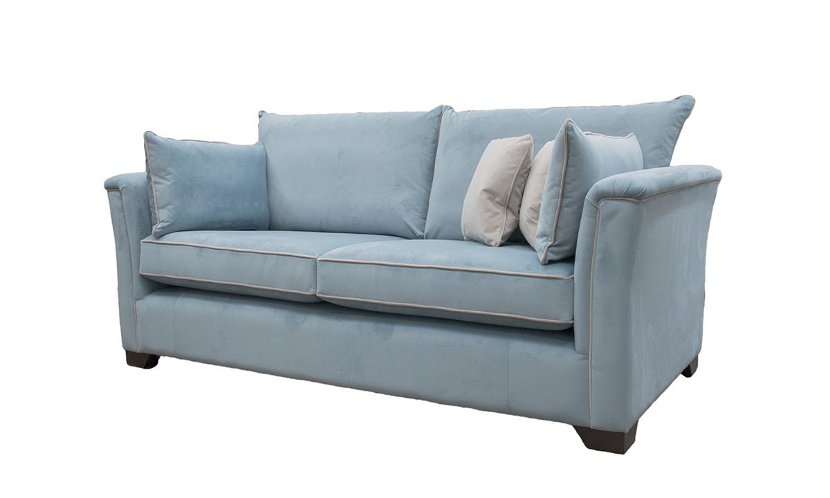 Monroe 3 Seater Sofa in Warwick Silver Airforce, Platinum Collection Fabric