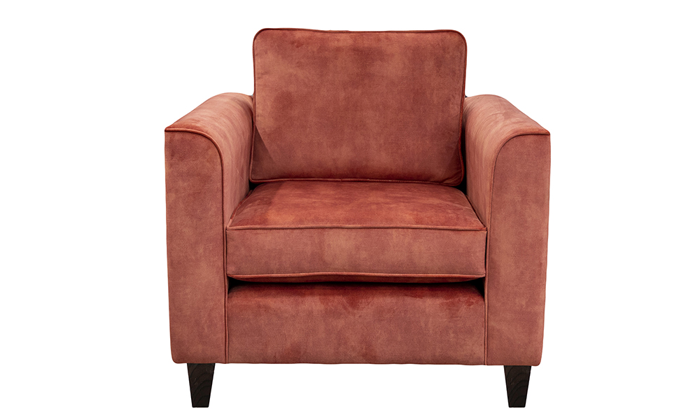 Nolan Chair in Lovely Coral, Gold Collection of Fabrics