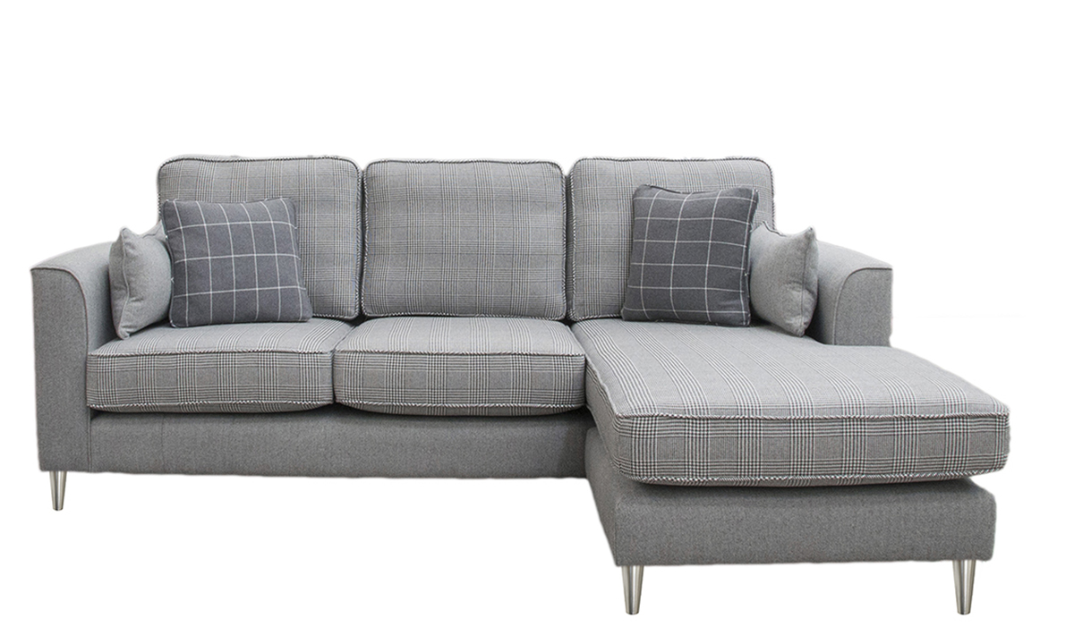 Nolan 3 Seater Chaise End Sofa in a Discontinued Fabric