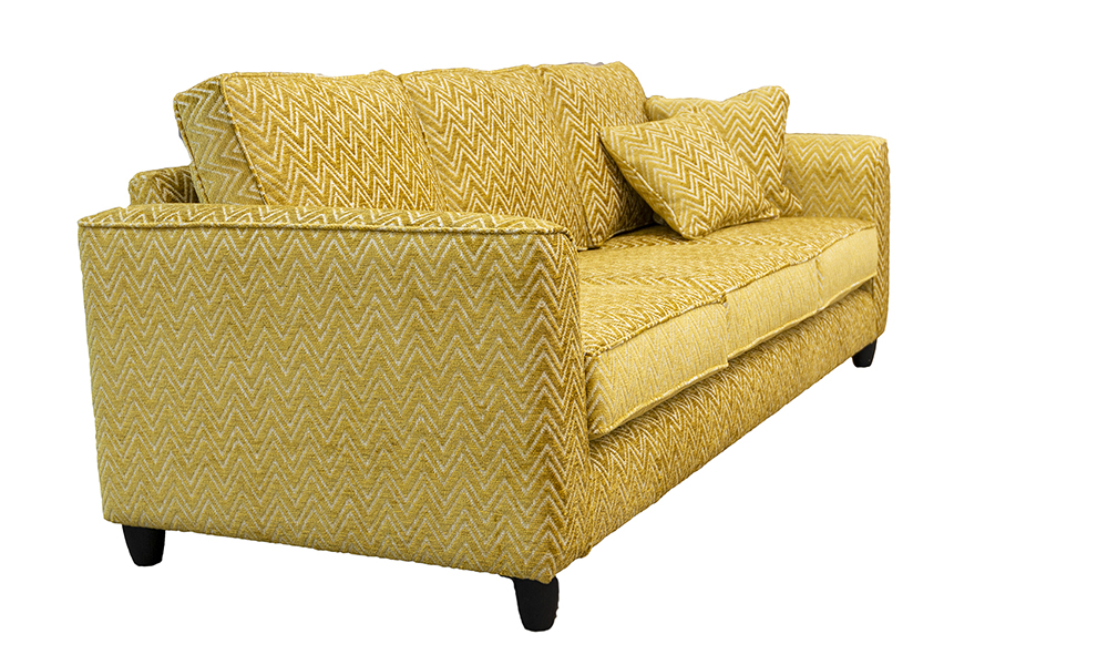 Nolan 3 Seater Sofa in Piper Gold, Gold Collection Fabric