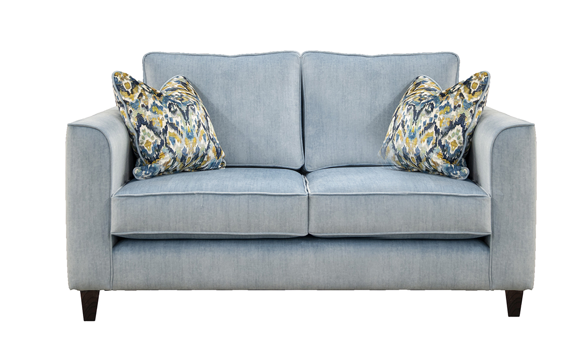 Nolan 2 Seater Sofa in JBrown Odyssey Sky,  Gold Collection Fabric