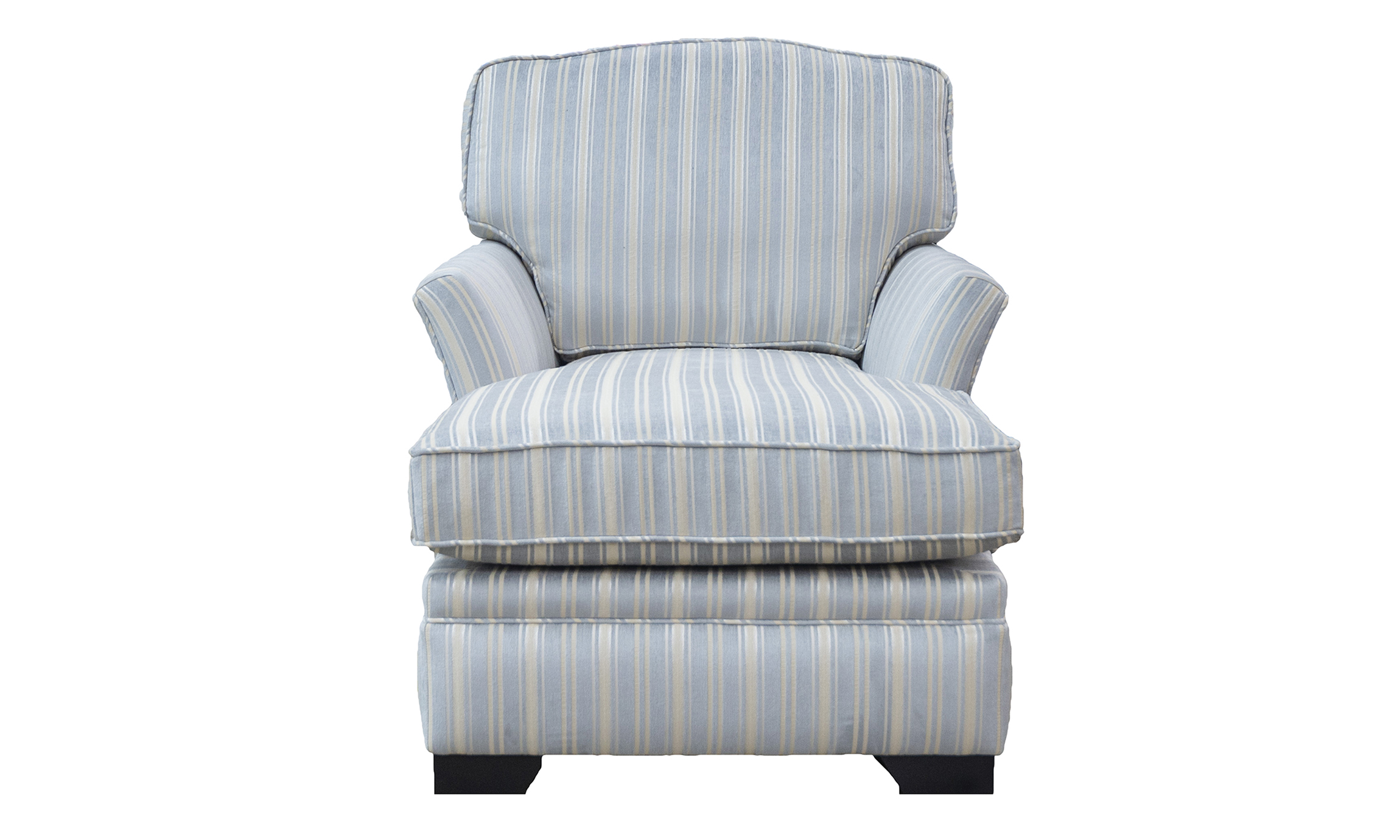 Othello Day Chair in Tolstoy Stripe Ocean, Platinium Collection Fabric