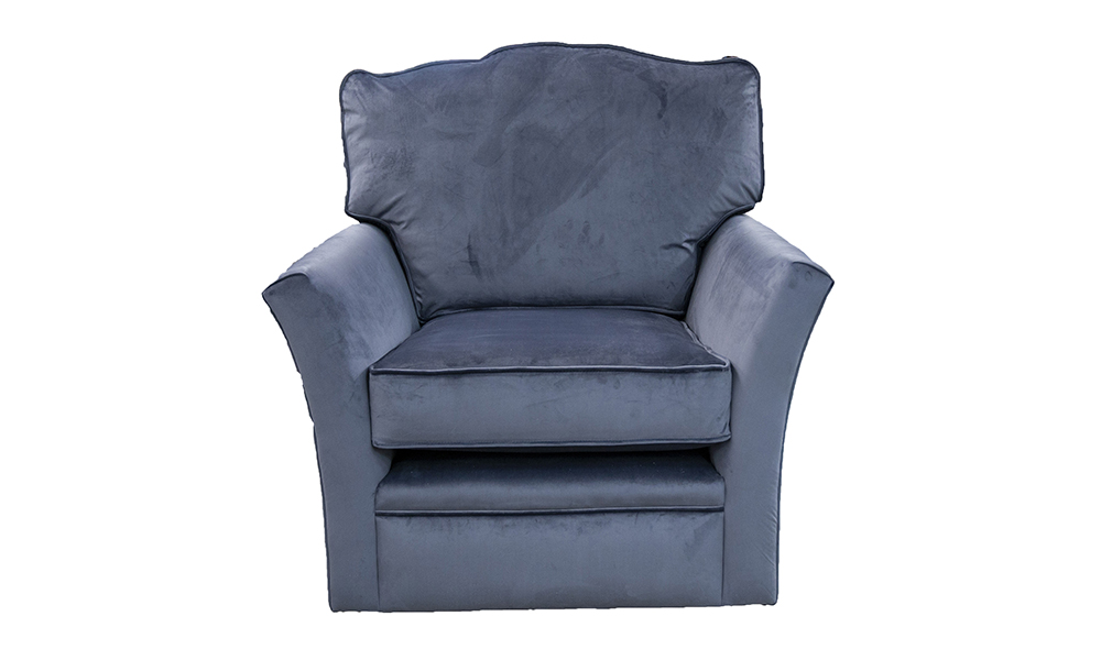 Othello Swivel Chair in a Discontinued Fabric