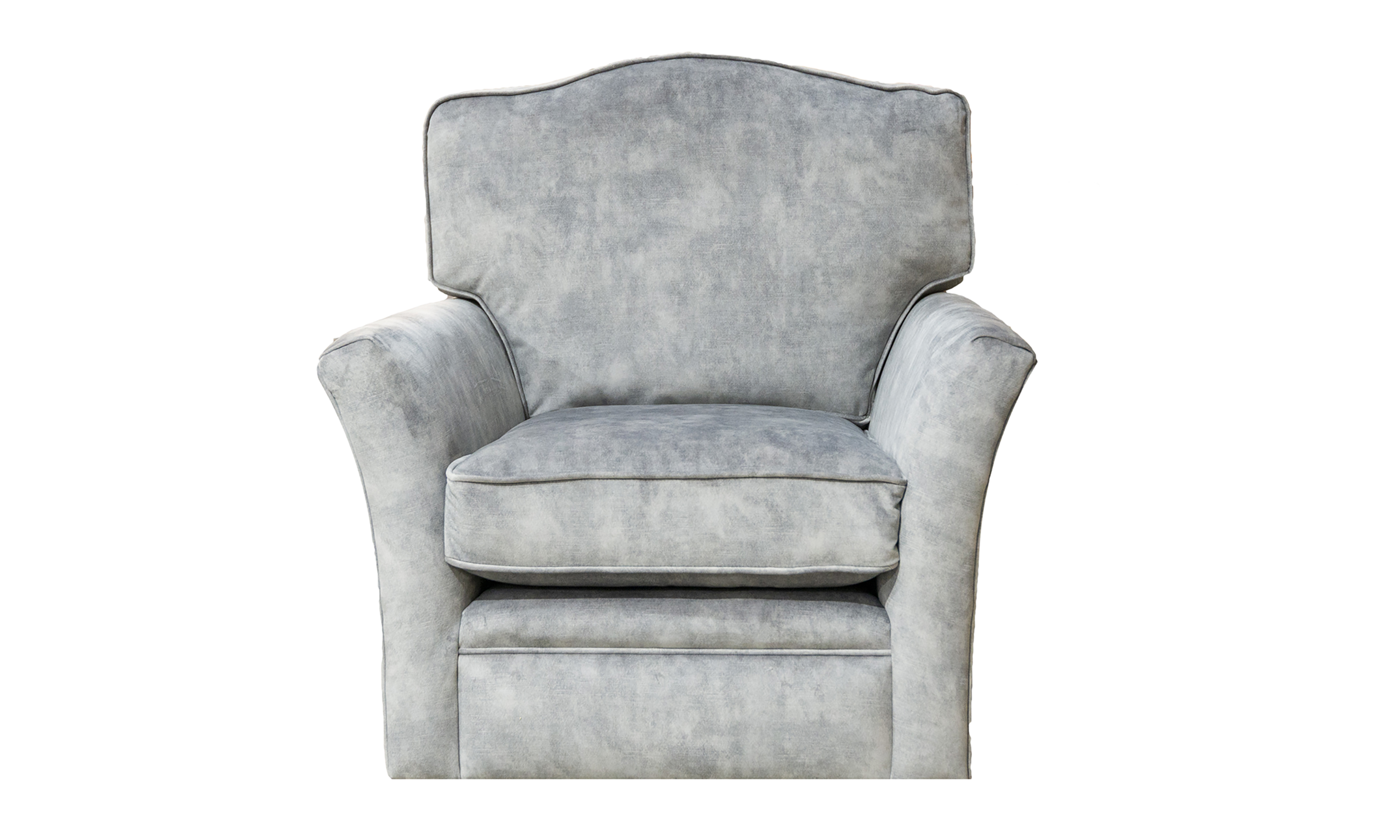 Othello Swivel Chair in Lovely Cement, Gold Collection Fabric