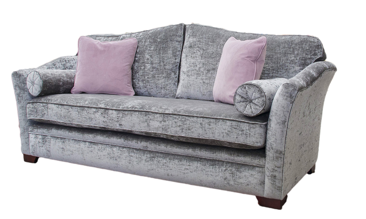Othello 3 Seater Sofa with a bench seat (bespoke option) in Modena Regency Grey
