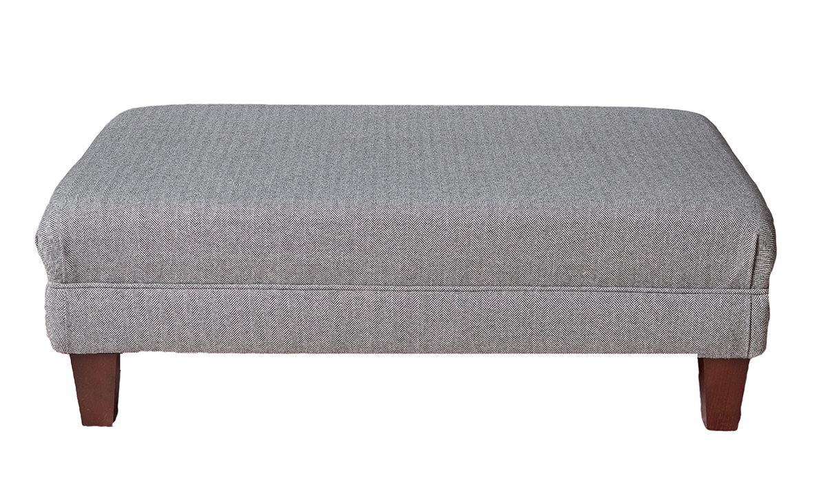 Ottoman Footstool in Foxford Platinum Collection Fabric