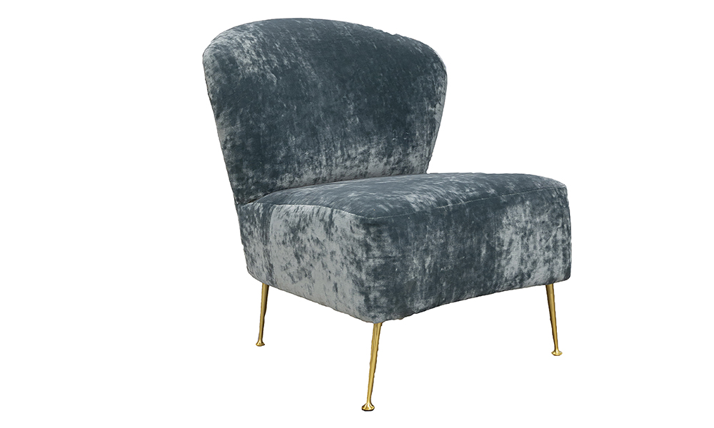 Philly Chair in Boulder Aqua  Platinum Collection Fabric
