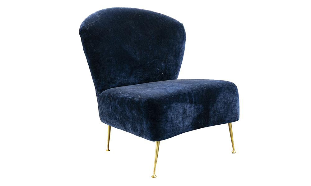 Philly Chair in Boulder Navy Platinum Collection Fabric