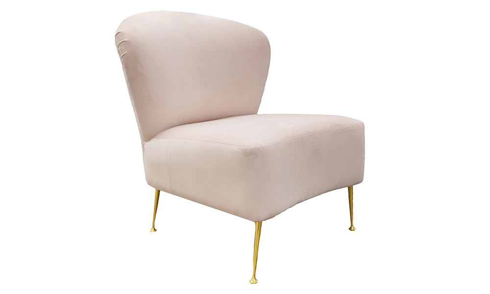 Philly Chair in Plush  Petal Silver Collection Fabric