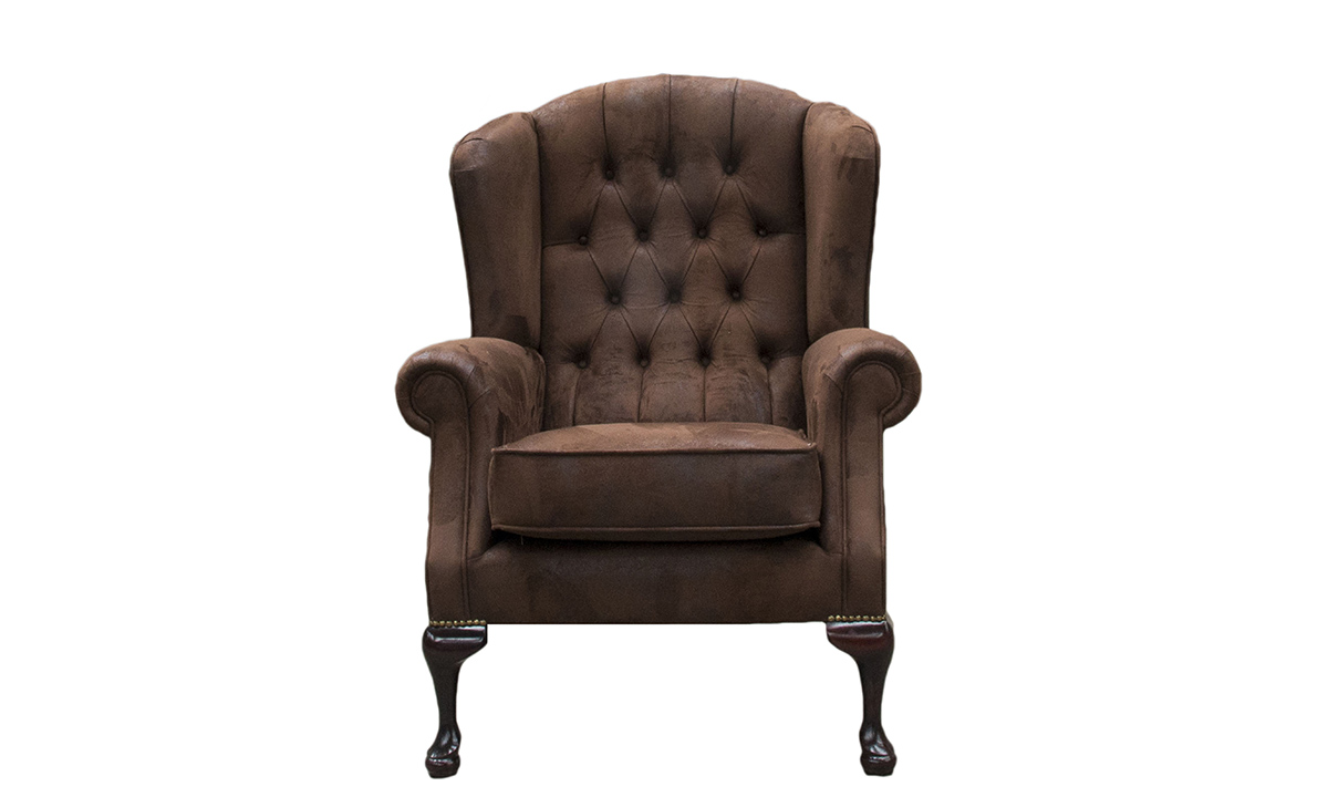 Queen Anne Chair Deep Button in Customers Own Fabric