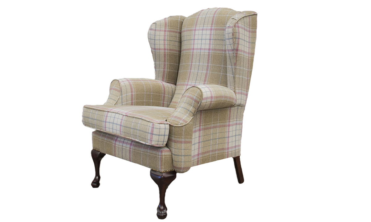 Queen Anne Chair in  Warwick Bainbridge Pastel