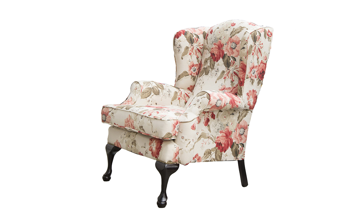 Queen Anne Chair in Warwick Wolseley Red