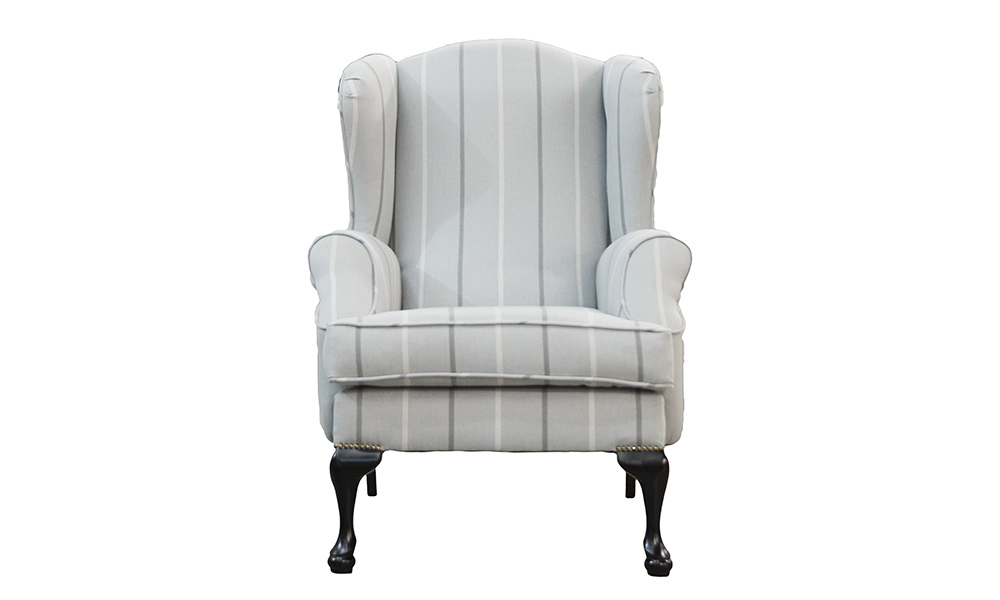 Queen Anne Chair in Fontington Stripe