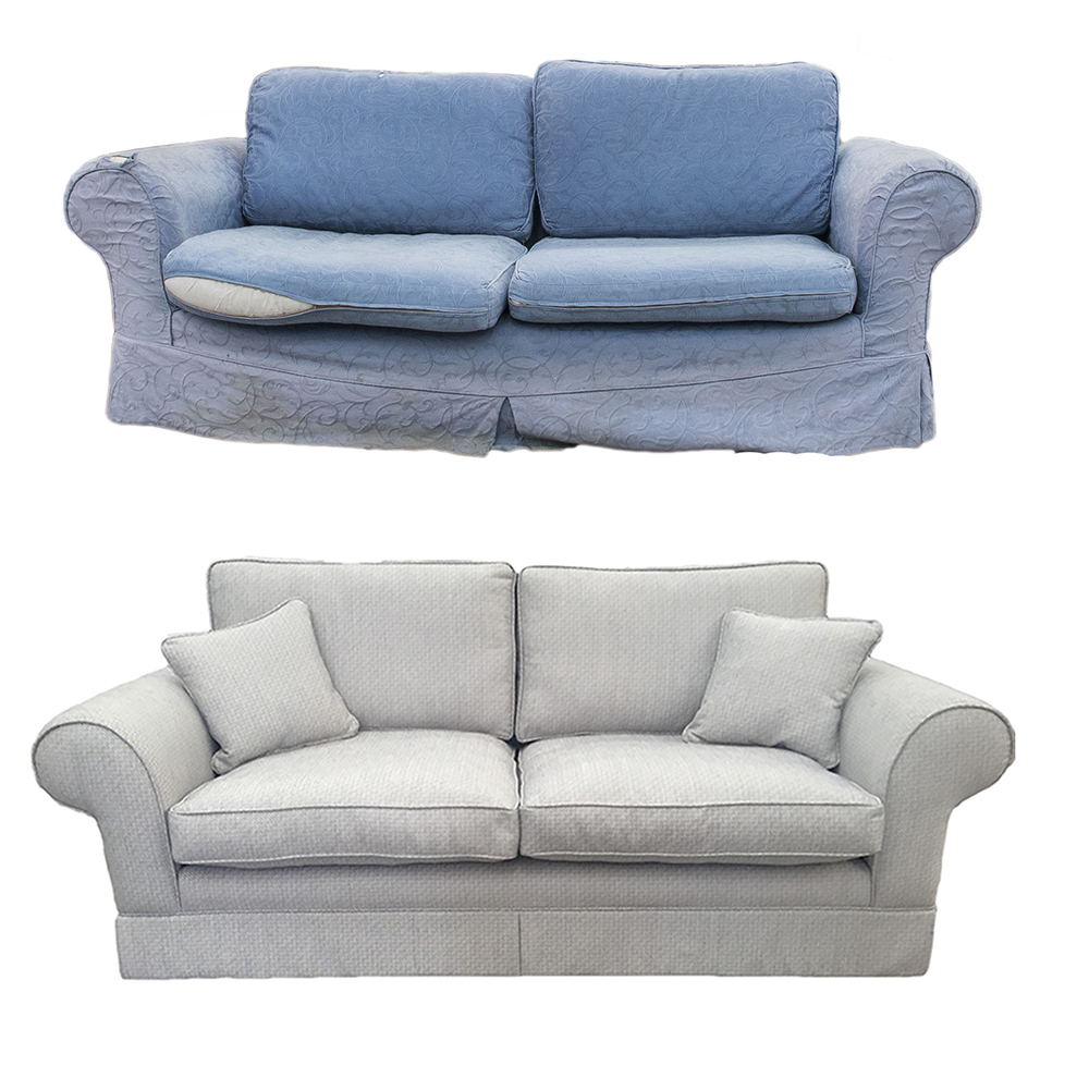 Rosin Sofa Before & After