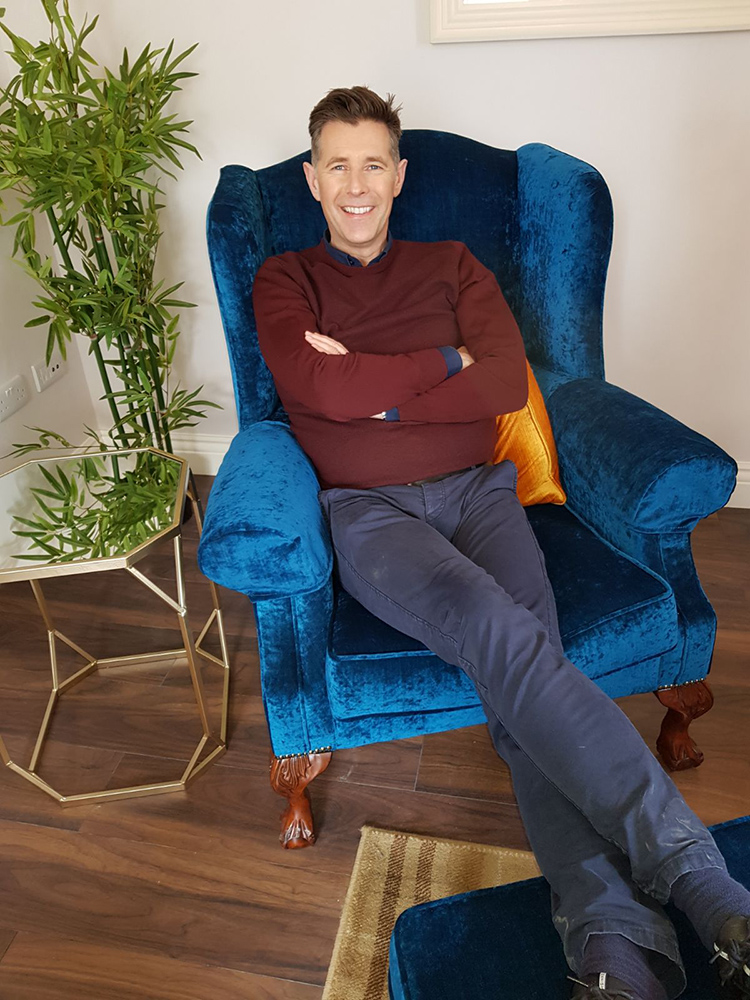 Dermot Bannon relaxing on our King Chair