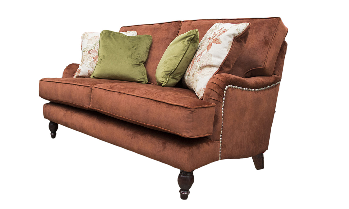 Sherlock 2 seater in  Lovely Umber, Gold Collection Fabric