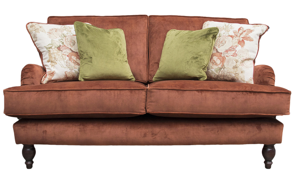 Sherlock 2 Seater Sofa in  Lovely Umber, Gold Collection Fabric