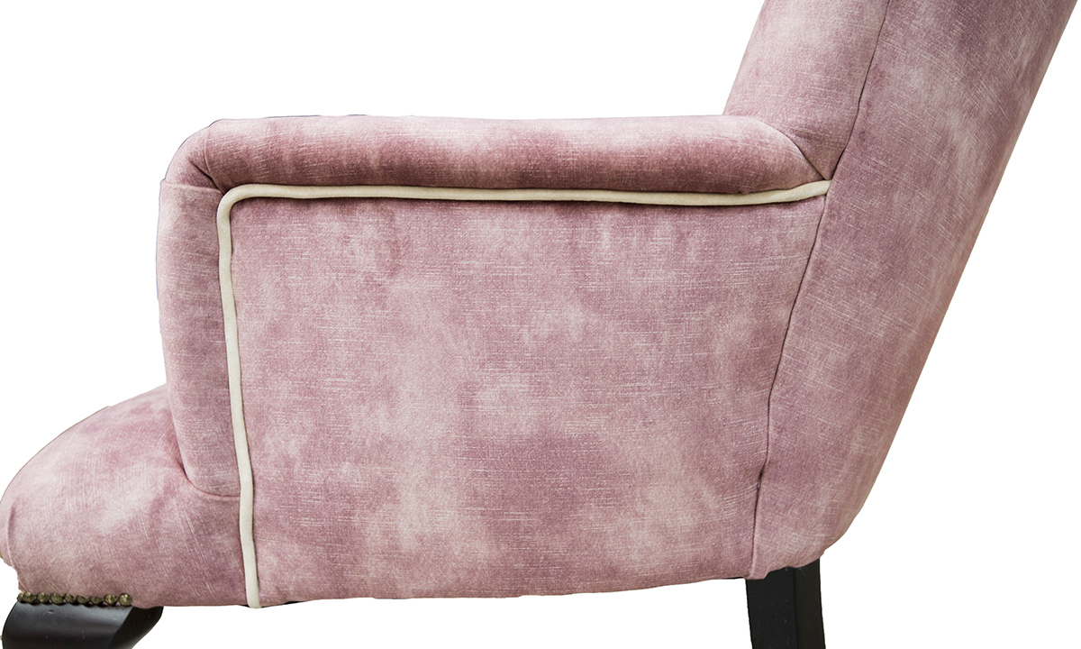 Aisling-Chair-arm-panel-detail-in-Lovely-Oxblood-Gold-Fabric-Collection