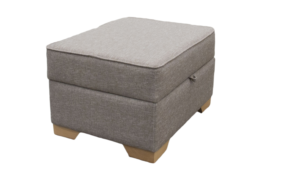 Imperial Storage Footstool in Ado Bark, Bronze Collection Fabric