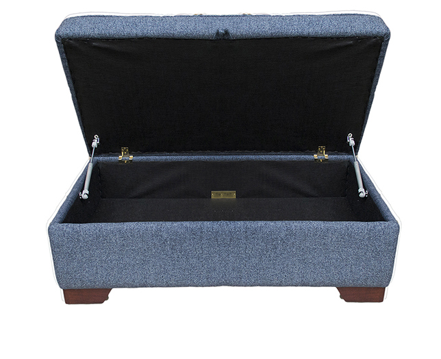 Storage Imperial Footstool - Belize Ink - Bronze Collection