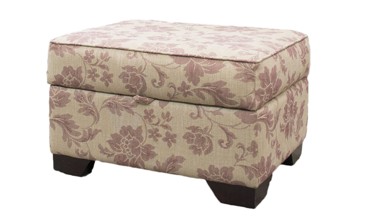 Imperial Storage Footstool in a Discontinued Fabric