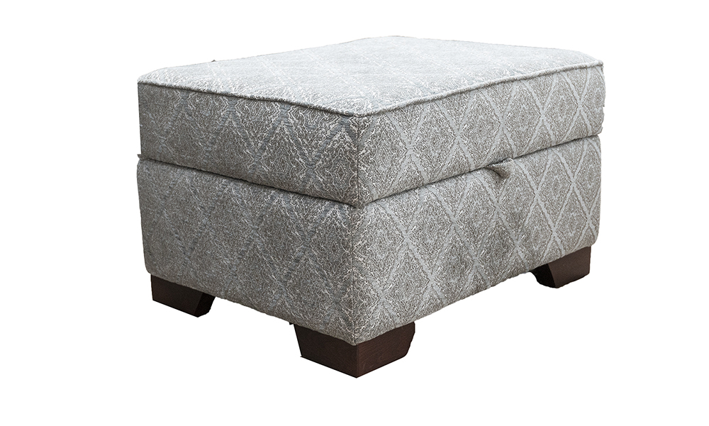 Imperial Storage Footstool in  Discontinued Fabric